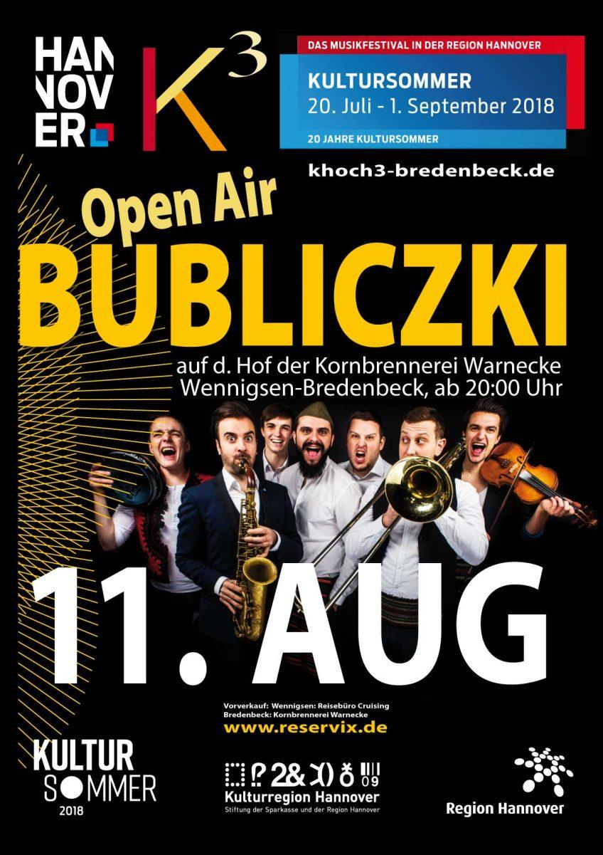 BUBLICZKI | Open Air auf dem Hof der Kornbrennerei Warnecke